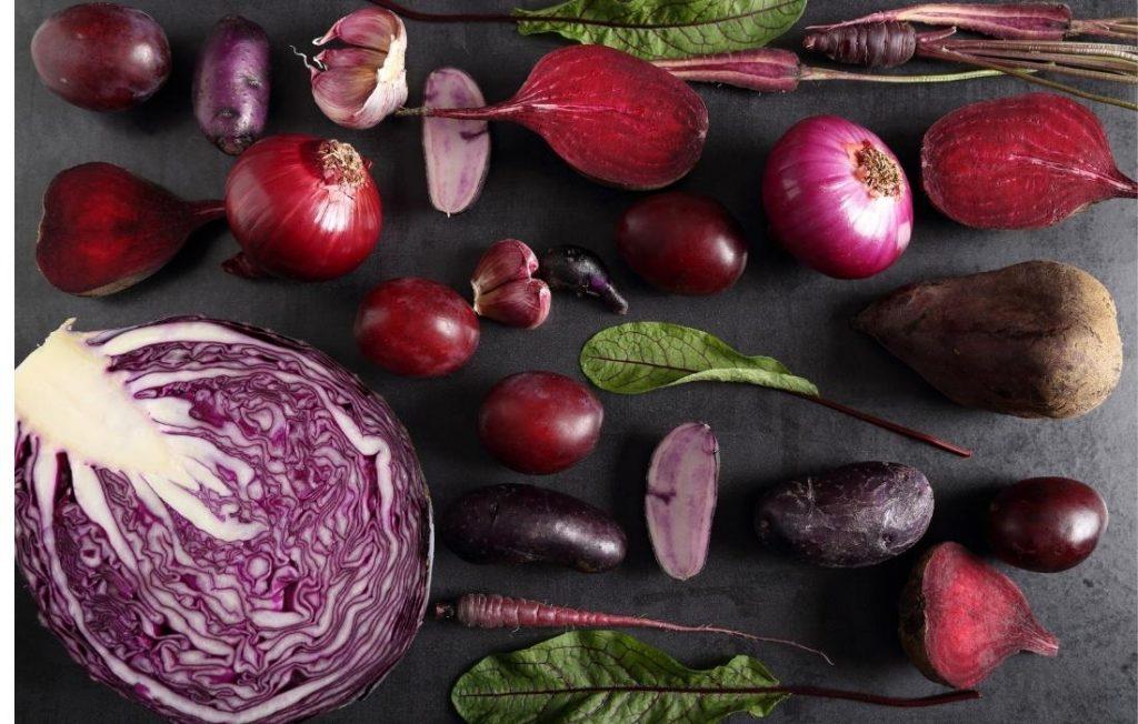 τα μπλε και μωβ λαχανικά