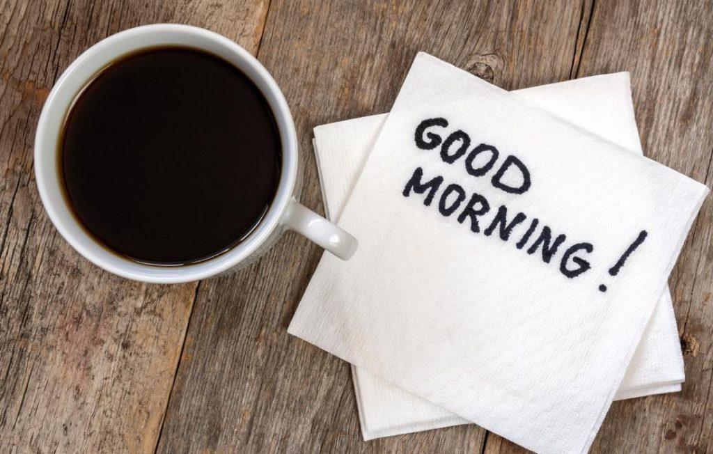 ο πρώτος καφές της ημέρας